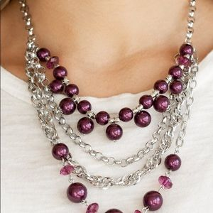 New! Paparazzi Rockin' Rockette Purple Necklace